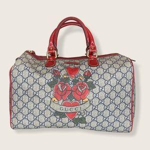 Gucci GG Heart Tattoo Duffle Bag